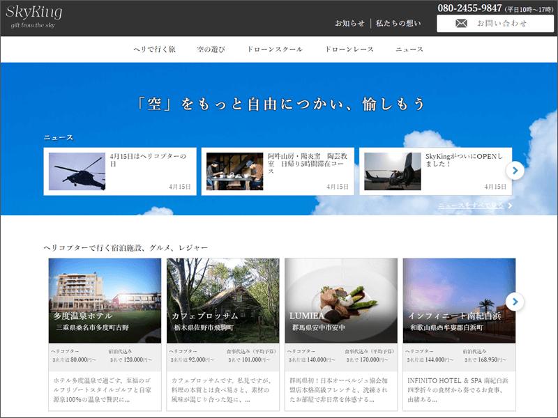 SkyKingのサイトイメージ