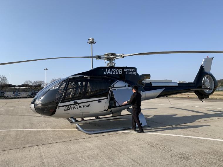 ヘリコプターで石川能登~京都市内に